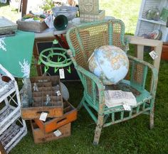 Vintage flea markets! This is what we would like ours to look like!