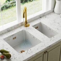 Kitchen Sink Cleaner, Kitchen Mixer Taps, Sink Mixer Taps, Kitchen Handles, Ceramic Kitchen Sinks, White Kitchen Sink, Franke Stainless Steel Sink, Food Waste Recycling
