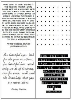 Janette Lane's Pocket Letter Guide | Janette Lane | Bloglovin'
