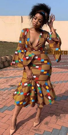 South African Wedding Dress, African Wedding Attire, African Attire, African Wear, African Women, African Fashion Traditional, African Inspired Fashion, African Print Fashion, Africa Fashion