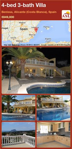 Villa for Sale in Benissa, Alicante (Costa Blanca), Spain with 4 bedrooms, 3 bathrooms - A Spanish Life Alicante, Murcia, Electric Gates, Guest Toilet, Underfloor Heating, 3, Terrace, Spanish, Villa