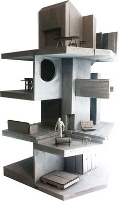 Interesting Find A Career In Architecture Ideas. Admirable Find A Career In Architecture Ideas. Architecture Concept Diagram, Amazing Architecture, Interior Architecture, Interior Design, Piscina Interior, Model Sketch, 3d Modelle, Arch Model, Miniature Houses