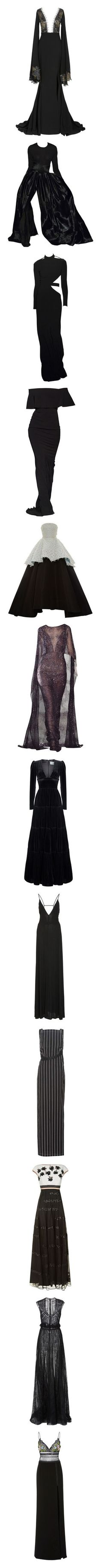 """""""dresses three"""" by gmbtch ❤ liked on Polyvore featuring dresses, gowns, black, long sleeve dress, lace dress, lace evening gowns, long sleeve evening gowns, long-sleeve lace dresses, couture and couture evening gowns"""