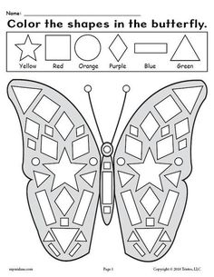 Printable Butterfly & Flower Templates by