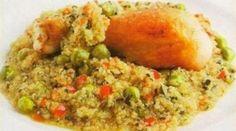 Quinua con pollo - Comida Peruana