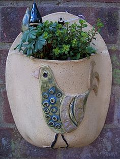 wall planter:  Little Brickhouse Clayworks