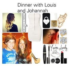 """""""#343: Dinner with Louis and Johannah"""" by kristina-payne ❤ liked on Polyvore featuring art"""