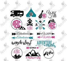 Camping SVG Cut Files Traveling svg cut files for by pieceofprint  #camping #walking #climbing