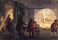 'The Laterna Magica' by Paul Sandby, 1760.