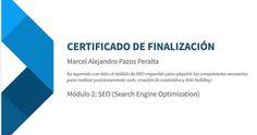 Aprobado el modulo de #SEO seguimos avanzando. Gracias #Google! Marcel Alejandro Pazos Peralta