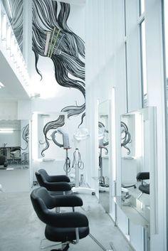 Mural at Alpha Hair Salon, Tokyo by przemek sobocki, via Behance I LIKE IT!