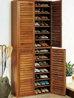 Shoe Storage Ideas To Keep Your Footwear Safe And Sound! 30 Great Shoe Storage Ideas To Keep Your Footwear Safe And Sound! 30 Great Shoe Storage Ideas To Keep Your Footwear Safe And Sound! 67 Mind-Blowing Under Stair Powder Room Designs To Inspire You Shoe Cabinet Entryway, Tall Cabinet Storage, Shoe Cabinet Design, Storage Cabinets, Cabinet Doors, Entryway Shoe Storage, Entryway Closet, Door Entryway, Mudroom
