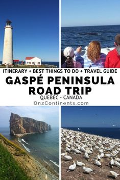 Complete Gaspe Peninsula road trip itinerary and travel guide. All you need to know about a vacation in Gaspesie, Quebec is right here! #gaspe #gaspesie #gaspepeninsula #roadtrip #itinerary #quebec #canada #familytravel #on2continents #travelblog Travel Couple, Family Travel, European Destination, Luxury Travel, Adventure Travel, Travel Guide, Travel Inspiration, Travel Destinations, National Parks