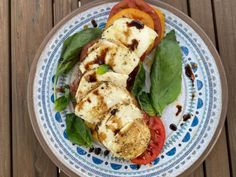 Get Charred Caprese Salad Recipe from Food Network