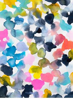 watercolor clouds print by emily green // $82