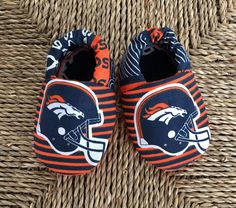 A personal favorite from my Etsy shop https://www.etsy.com/listing/526292653/denver-broncos-baby-shoes-baby-gift