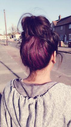 Underneath Hair dye# purple