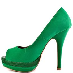 Stunning Women Shoes, Shoes Addict, Beautiful High Heels  JustFab Women's Jovianne – Green