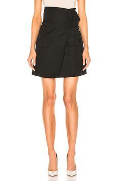 Image 1 of Marni Wool Gabardine Skirt in Black