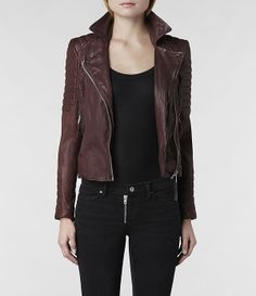 AllSaints Oxblood Leather Biker Jacket about time i grew up and picked leather up. putting denim down. All Saints Leather Jacket, Leather Jackets, Love Fashion, Fashion Outfits, Womens Fashion, Fashion Corner, Classic Fashion, Fall Fashion, Tips Belleza