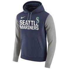Seattle Mariners Nike Club Fleece Pullover Hoodie - Navy - $51.99