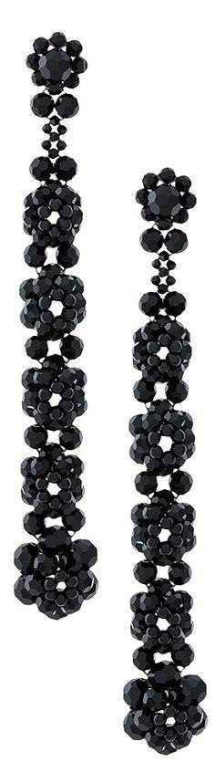 drop flower clip-on earrings - Black Simone Rocha guoTWF