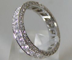 Platinum and Diamond Wedding Band