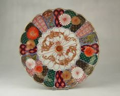 Superb Large Antique 18thC Edo Japanese Arita Imari Porcelain 20 Lobed Dish Bowl | eBay