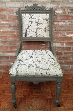 Startling Cool Tips: Upholstery Box Cushion Covers upholstery foam how to make.Upholstery Repair Miss Mustard Seeds upholstery foam. Furniture, Painted Furniture, Painted Chair, Victorian Chair, Chair Upholstery, Furniture Upholstery, Vintage Chairs, Upholstery Armchair, Modern Upholstery