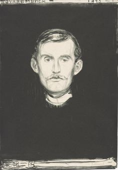 """Self-Portrait with Skeleton Arm, Edvard Munch Lithograph in black, 17 ⅞ x 12 ½"""" x cm) Oslo Catherine Woodard and Nelson Blitz Jr. © 2013 The Munch Museum / The Munch-Ellingsen Group / Artists Rights Society (ARS), New York Edvard Munch, British Museum, Famous Self Portraits, Skeleton Arm, Self Portrait Drawing, Google Art Project, Jasper Johns, Philadelphia Museum Of Art, Manet"""
