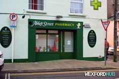 The Abbey Street pharmacy. This used to be the location of a newsagents called The Gem.