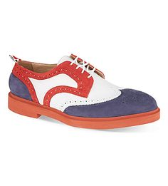 red, white & blue shoes