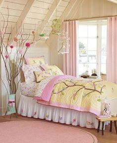 Girls bedroom, cherry blossom