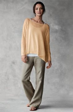 Eileen Fisher: Love this woman. She reads my mind. Honors my less-than-perfect body. I: Own this! Wear it.! Love it!