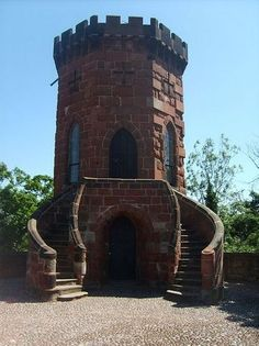 Laura's  Tower. ordered to build by Sir William Pulteney for his daughter Laura.  Well worth climbing up to as it offers fantastic views over Shrewsbury