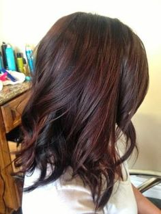 Subtle Red Highlights for brown hair by tanya