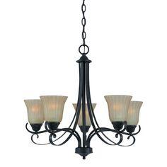 $139.50 Value Series 270 Bronze Five-Light Chandelier