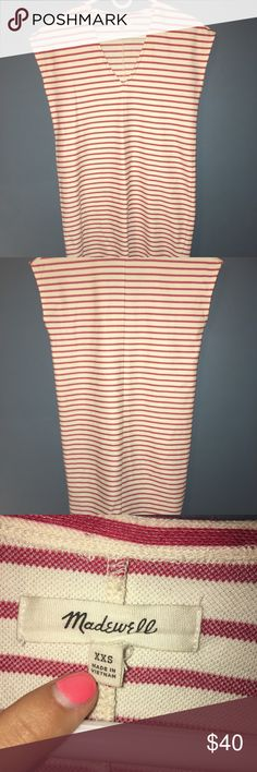 Madewell stripped shift dress Perfect condition worn once. Madewell Dresses Midi