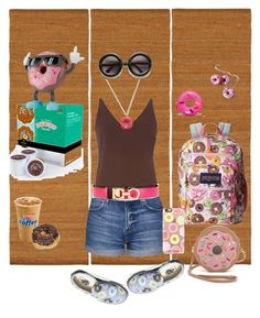 """""""Donut Tempt Me!"""" by lmello on Polyvore featuring JanSport, Dorothy Perkins, Topshop, Patricia Chang, Kate Spade, Salvatore Ferragamo, Keurig, Casetify and Vans"""