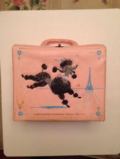 Vintage 1960's Pink Poodle Vinyl Lunchbox by Aladdin | eBay