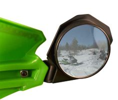 PowerMadd LARGER Mirror upgrade kit for Star series and Trail Star handguards. Requires standard kit. One mirror included. #ATV #Snowmobile. www.powermadd.com