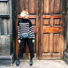 "31 Perfect Looks To Copy This January #refinery29  http://www.tumblr.refinery29.com/january-outfit-of-the-day-ideas#slide-7  You heard it here first: A neutral (but still fun) furry knit is about to become your new best friend.ASOS pants, Gucci bag.Topshop Boutique Stripe Fluffy Sweater, $135, available at <a href=""http://shop.nordstrom.com/s/topshop-boutique-stripe-fluffy-sweater/4239189?cm_mmc=Google_Product_Ads_pla_online-_-datafeed-_-women%3Atops%3Asweater-_-5085541&amp%..."