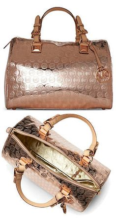 Michael by Michael Kors Rose Gold Large Grayson Bag Michael Kors Rose Gold,  Michael Kors 8b349eb9b5