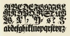 Koch and Blackletter Typography