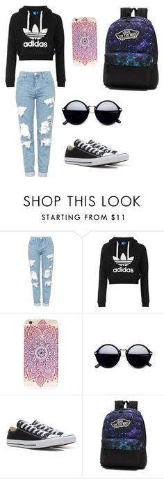 """""""Untitled #32"""" by kate-gounaro on Polyvore featuring Topshop, Converse and Vans"""