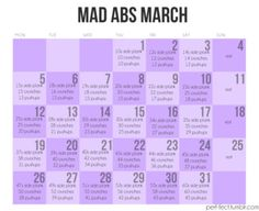 Wish I would have seen this last week! Mad Abs March