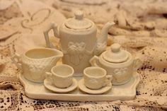 Miniature Tea Set by akatydidgig on Etsy, $23.99