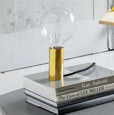 NEB brass lamp table