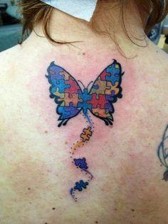 Vlinder op de rug