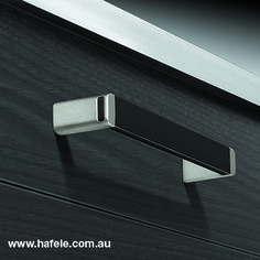 5 x Anthracite Stripe Handle Chrome Handle /& Anthracite Inset Cabinet Handle